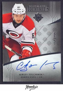 VM) 2016-17 Ultimate Collection #119 Sergey Tolchinsky Autograph AUTO 151/299 RC