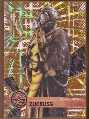 2017 Topps Star Wars High Tek Orange Magma Diffractors #55 Zuckuss 05/25