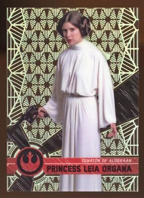 2017 TOPPS HIGH TEK STAR WARS PRINCESS LEIA ORGANA #16 PATTERN 2 FORM 1