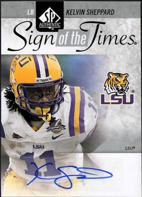 2011 SP AUTHENTIC FB KELVIN SHEPPARD SIGN OF THE TIMES AUTO LSU