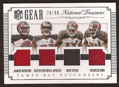 JC 2015 National Treasures Winston, Evans, Sims, Seferian-Jenkins Jersey 78/99