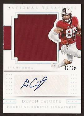 ET 2016 National Treasures Collegiate #147 Devon Cajuste Jersey AUTO 42/99