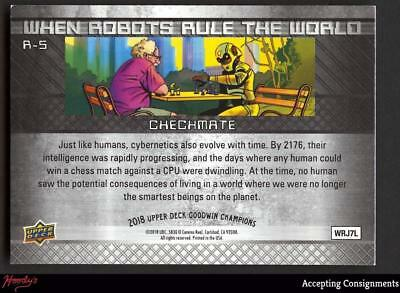 2018 Goodwin Champions When Robots Rule the World 3D #R5 A Checkmate