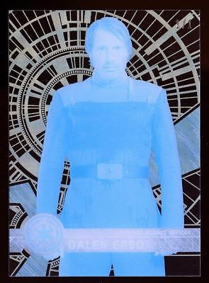 Image of 2017 Topps Star Wars High Tek Printing Proofs Cyan #97 Galen Erso 1/1