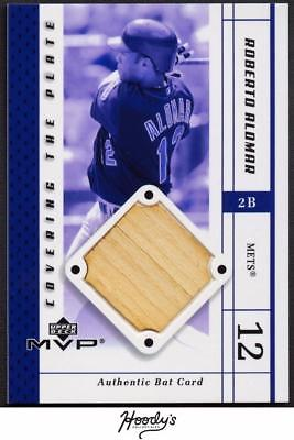 Image of 2003 Upper Deck Covering the Plate Roberto Alomar Game Used Bat Relic METS HOF