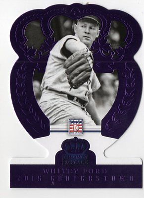 Image of 2015 Panini Cooperstown 75th Anniversary Whitey Ford Purple Crown Royale 43/50