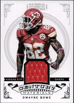PH) 2012 Panini National Treasures Century Material JERSEY Dwayne Bowe #53/99