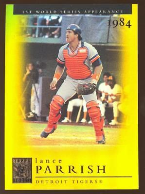 2003 TOPPS TRIBUTE LANCE PARRISH  #117 GOLD PARALLEL #035/100 TIGERS