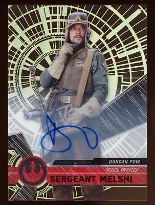 2017 Topps Star Wars High Tek Autographs Duncan Pow as Sergeant Melshi AUTO