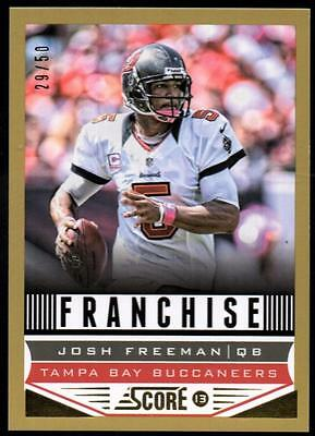 ET 	2013 Score Gold Zone #296 Josh Freeman F #29/50