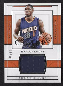 ET) 2016-17 National Treasures Century Materials #18 Brandon Knight Jersey 13/99