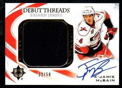 JC 2010-11 Ultimate Collection Debut Threads #SDTMC Jamie McBain Jersey AUTO /50