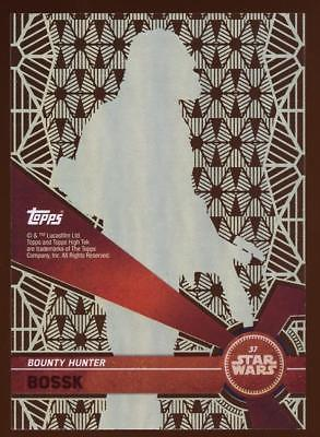 2017 TOPPS HIGH TEK STAR WARS BOSSK  #37 PATTERN 2 FORM 1