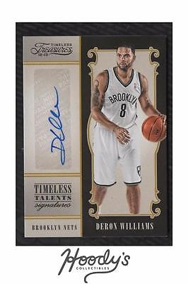 VM) 2012-13 Timeless Treasures Timeless Talents Deron Williams AUTO 01/25 FIRST