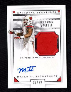 ET) 2015 National Treasures Collegiate #49 Marcus Smith Jersey AUTO 22/99 RC
