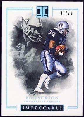 2016 Panini Impeccable Silver #71 Bo Jackson #07/25 RAIDERS