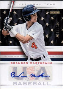 ET 2013 USA Baseball 15U National Team Signatures #6 Brandon Martorano #100/299