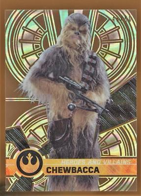 2017 Star Wars High Tek Heroes & Villains of The Force Awakens Chewbacca 48/50