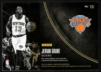 Image of VM  2015-16 Panini Black Gold Golden Opportunity Jersey Jerian Grant #022/199