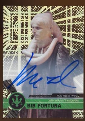 2017 Topps Star Wars High Tek Autographs Matthew Wood as Bib Fortuna AUTO