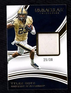 ET) 2016 Immaculate Collection Collegiate #36 Tyler Boyd Shoe Relic 25/38
