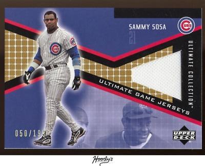 2002 Ultimate Collection Game Jersey #SS Sammy Sosa Jersey Relic 050/199 CUBS