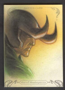 2018 MARVEL MASTERPIECES LOKI ONE OF ONE ORIGINAL ART SKETCH CARD HUY TRUONG