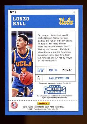 2017-18 Contenders Draft Picks Championship Ticket Lonzo Ball AUTO 1/1 RC
