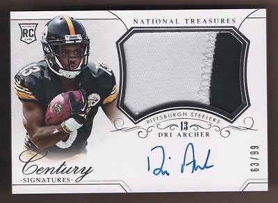 2014 Panini National Treasures #310 Dri Archer PATCH Autograph AUTO  63/99 RC