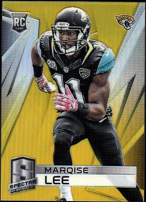 JC 	2014 Panini Spectra Prizms Gold #186 Marqise Lee #08/25