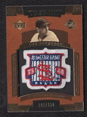 NE) 2004 Sweet Spot Classic Patch 230 #SSPLB Lou Boudreau 40 AS 107/230