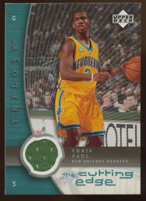 Image of 2005-06 Upper Deck Trilogy The Cutting Edge Chris Paul Jersey Relic HORNETS RC
