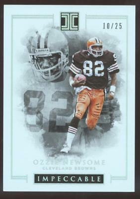 2016 PANINI IMPECCABLE FB OZZIE NEWSOME #27 SILVER #10/25 CLEVELAND BROWNS