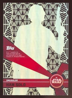 2017 TOPPS HIGH TEK STAR WARS HAN SOLO #14 PATTERN 2 FORM 1