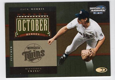 2004 Donruss World Series October Heroes #7 Jack Morris /500 Twins