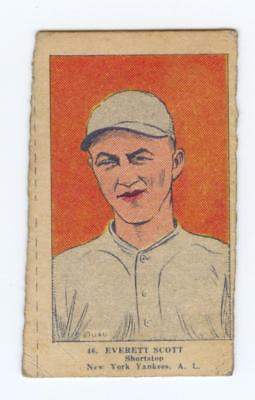 1923 W515 BASEBALL STRIP CARD HAND CUT EVERETT SCOTT #46 YANKEES FAIR-GOOD #2
