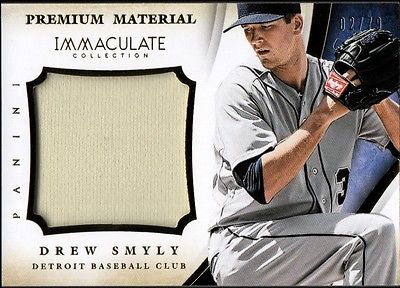 Image of JC 2014 Immaculate Collection Clubhouse Material #28 Drew Smyly Jersey 02/79