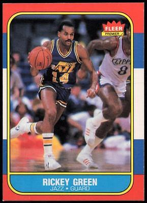 1986-87 Fleer #39 Rickey Green