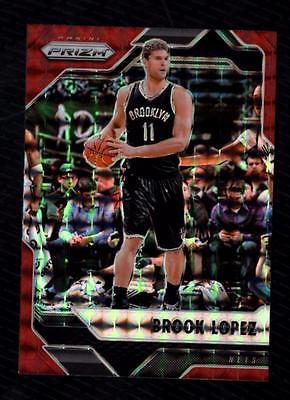 ET) 2016-17 Panini Mosaic Brook Lopez #9 Red Prizm BROOKLYN NETS