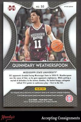 Image of 2019-20 Panini Prizm Draft Picks Quinndary Weatherspoon Red White Blue 29/99 RC