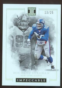2016 PANINI IMPECCABLE FB MICHAEL STRAHAN #41 SILVER #13/25 NY GIANTS