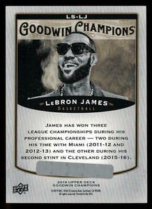 2019 Goodwin Champions Splash of Color 3-D Lenticular BOUNTY #LSLJ LeBron James