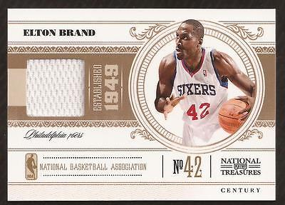 VM) 	2010-11 Playoff National Treasures Century #77 Elton Brand Jersey 12/99