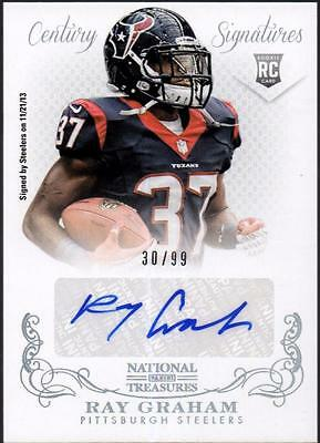 JC 	2013 Panini National Treasures #320 Ray Graham AU RC #30/99
