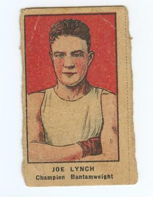 1926-7 W512 ATHLETES STRIP CARD HAND CUT JOE LYNCH LOT OF 1 BOXING CHAMP