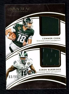 ET) 2016 Immaculate Collegiate Connor Cook/Aaron Burbridge Jersey 83/99 RC