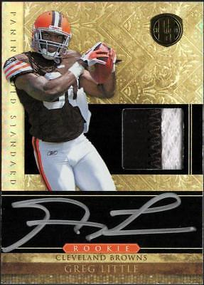 ZB) 2011 GOLD STANDARD GREG LITTLE #269 RC AUTO 2 COLOR PATCH #152/525 BROWNS