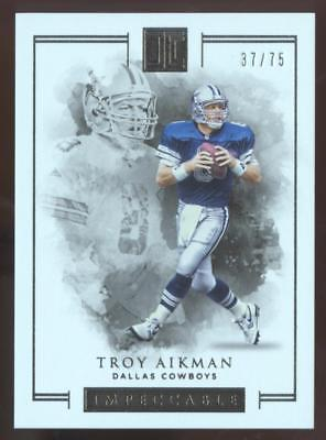 2016 PANINI IMPECCABLE FB TROY AIKMAN #35 BASE #37/75 COWBOYS