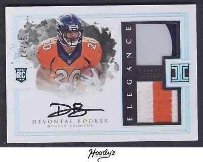 2016 Impeccable Elegance Rookie Devontae Booker Helmet & PATCH AUTO 04/15 RC