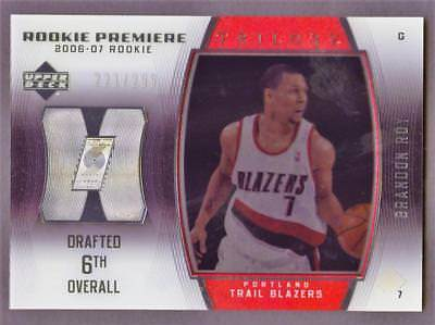 Image of 2006-07 Upper Deck Trilogy #97 Brandon Roy ROOKIE 221/299 BLAZERS RC